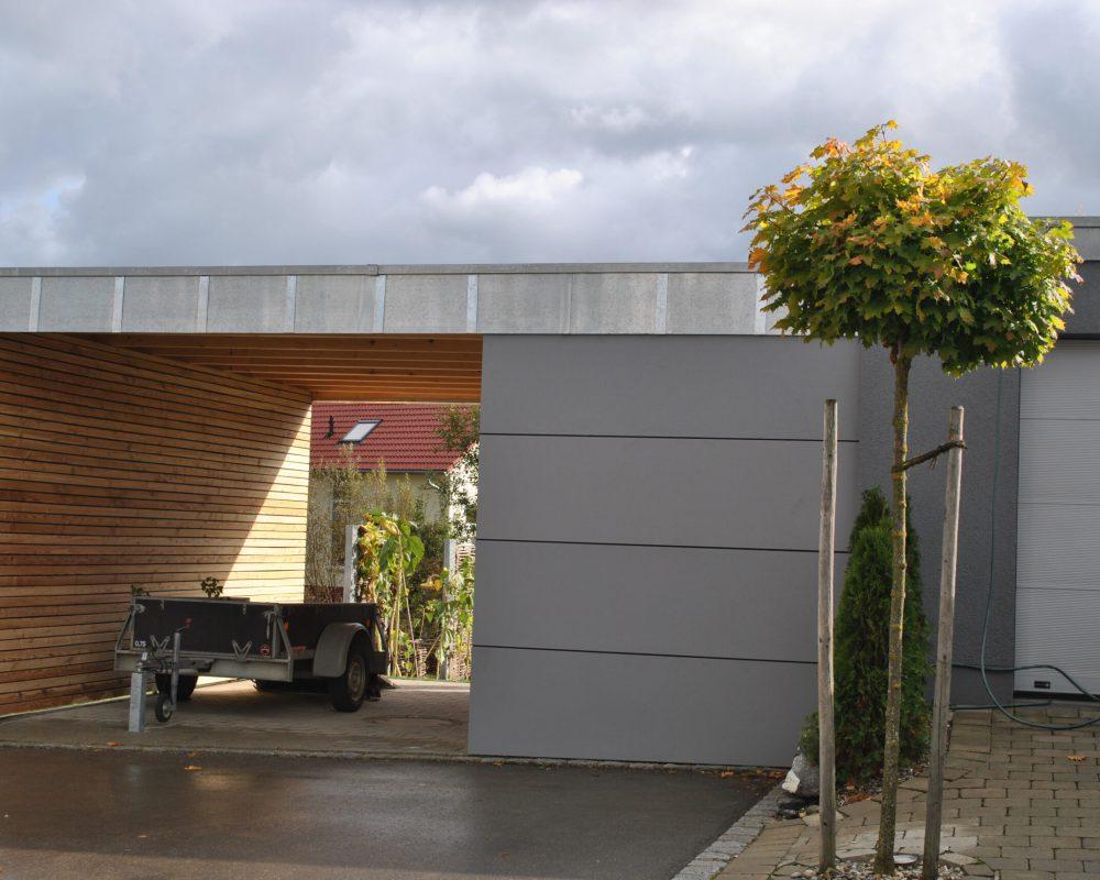 Schreinerei holzform Außenbereich Carport Vollkernplatte